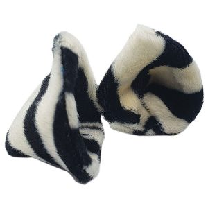 Zebra print clip on ears | Pirate Spirit