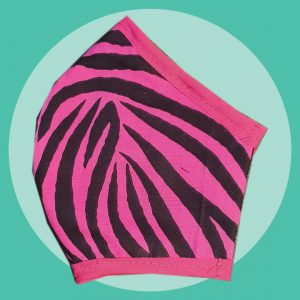 Pink Zebra Print Face Mask | PIRATESPIRIT