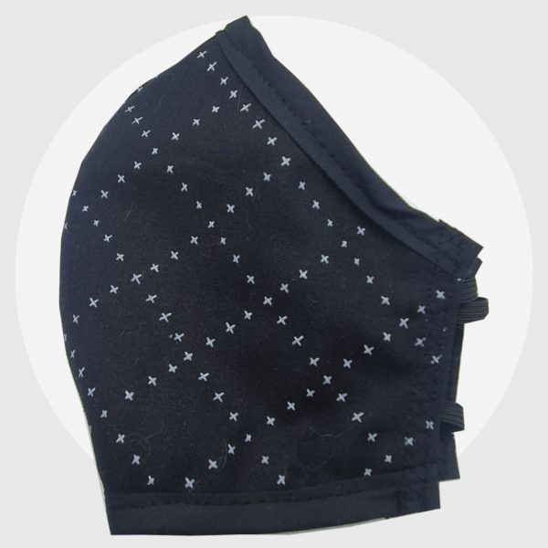 Cross Diamond fitted face mask | PIRATE SPIRIT