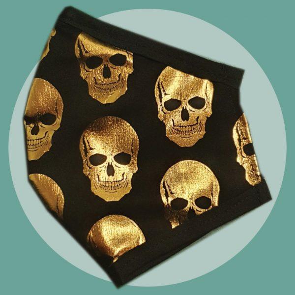 Metallic Gold Skulls Mask | PIRATESPIRIT