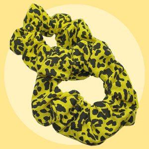 Yellow Leopard Spot Scrunchies | PIRATE SPIRIT