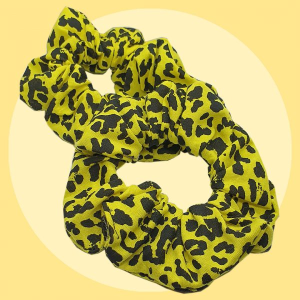 Yellow Leopard Spot Scrunchies | PIRATE SPIRIT