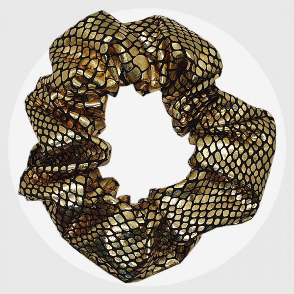 Gold Reptilian Scrunchies | PIRATE SPIRIT