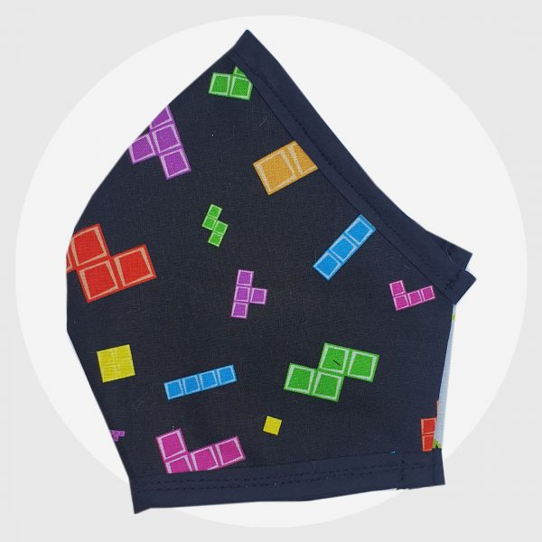Tetris Fitted Face Mask | PIRATE SPIRIT