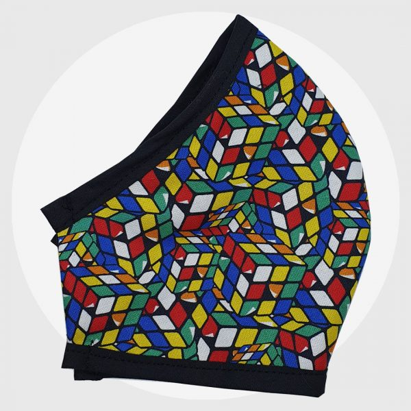 Rubix Cube | Fitted face mask | PIRATE SPIRIT