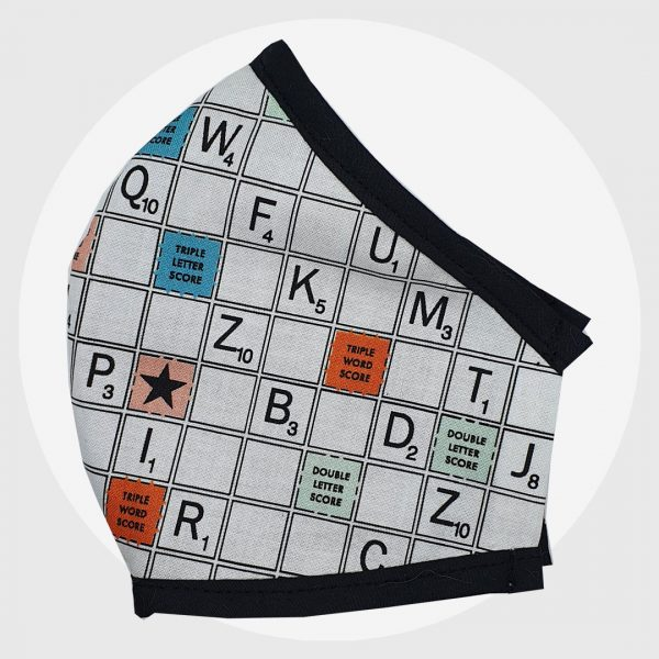 Scrabble Mask | Fitted face mask | PIRATE SPIRIT