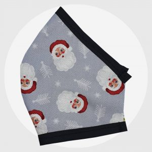 Silver Santas xmas fitted face mask   PIRATE SPIRIT