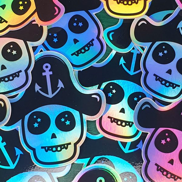 Captain Skully - Holographic Stickers | Pirate Spirit